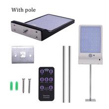 Открытый уличный водонепроницаемый настенные светильники 600LM 48 LED солнечной энергии уличного света PIR датчик движения света Сад Безопаснос...(China)