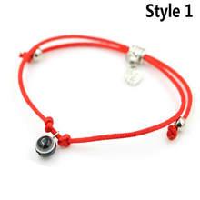 ANILLO 赤のスレッド String ロープラインウィービングチェーンブレスレットとビーズから手なくてはならない女性ギフト(China)