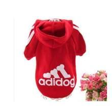 Francia buldog gran Adidog ropa para perro mediano grande Sudadera con capucha mascotas grandes poodle ropa Chihuahua suave abrigo chaqueta caliente(China)