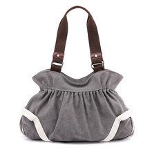 Toposhine estilo coreano bolsas de lona 5 cores bolsa de ombro feminina moda qualidade senhora totes preto marrom promoção sacos(China)
