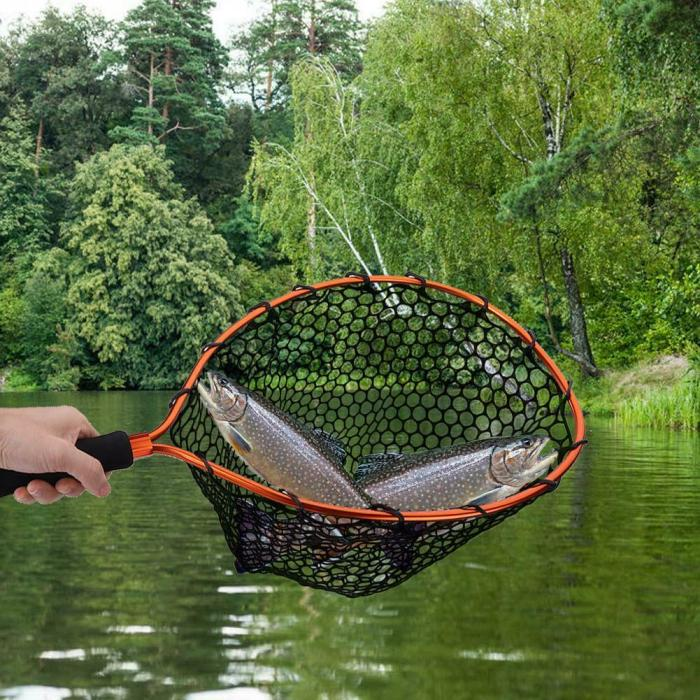 Portable Aluminum Alloy Folding Fishing Net Fly Hand Dip Casting Fish Tank Net
