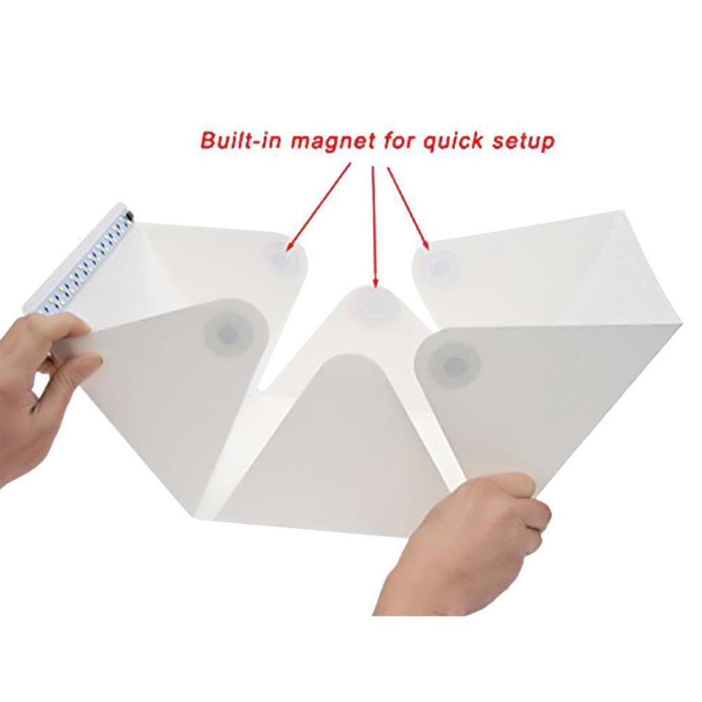 Portable Mini Folding Lightbox Photography Studio Softbox LED Light Room Soft Box Camera Photo Background Box Light Tent Kit
