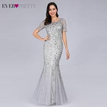 סקסי נצנצים בת ים שמלות נשף ארוך פעם די V-צוואר שרוולים אלגנטי נשים צד פורמלי שמלות Vestidos דה גאלה 2019(China)