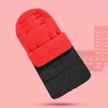 Kış sonbahar uyku tulumu bebek bebek sıcak bebek arabası su geçirmez çorap kalın yenidoğan ayak koruyucu Pram aksesuarları için 1-5Y(China)
