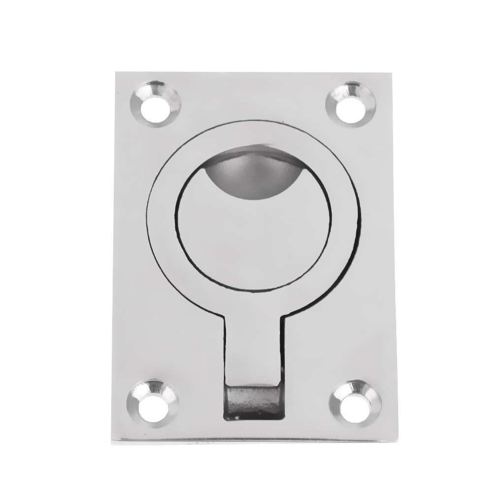 Boat Polished Stainless Flush Mount Lift Handle Ring Pull Hatch Deck Hinge