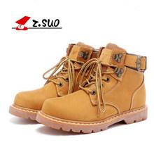 ZSUO/мужские треккинговые ботинки; женские классические ботинки из натуральной кожи; Прочные треккинговые ботинки со средним верхом(China)