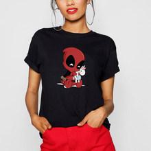 Pria Wanita Deadpool Unicorn T-shirt Katun Lengan Pendek Harajuku Kaos Anak Gadis TEE Tops Kartun Streetwear O-Leher T Shirt(China)
