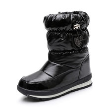 רוסיה ילדי שלג מגפי בנות נעלי חורף קרסול מגפי אופנה צמר ילדי נעלי מים הוכחה סטודנטים סניקרס ילדי מגפיים(China)