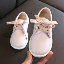 2020 אביב ובסתיו ילדים חדשים נעלי סטודנטים קוריאנים רך תחתון מזדמן עור נעלי בני בנות דירות Chaussure Enfant Fille(China)