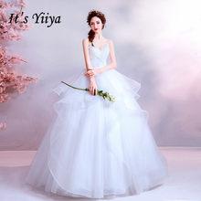 חתונת שמלה לבן שכבות קפל קצר שרוול נשים שמלות כלה V-צוואר כדור שמלת תחרת שרוולי שמלות כלה 2020 E170(China)