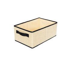Armario de gran capacidad plegable caja de almacenamiento de ropa calcetines sujetador organizador de juguetes libros con asas caja de recogida contenedor casa(China)