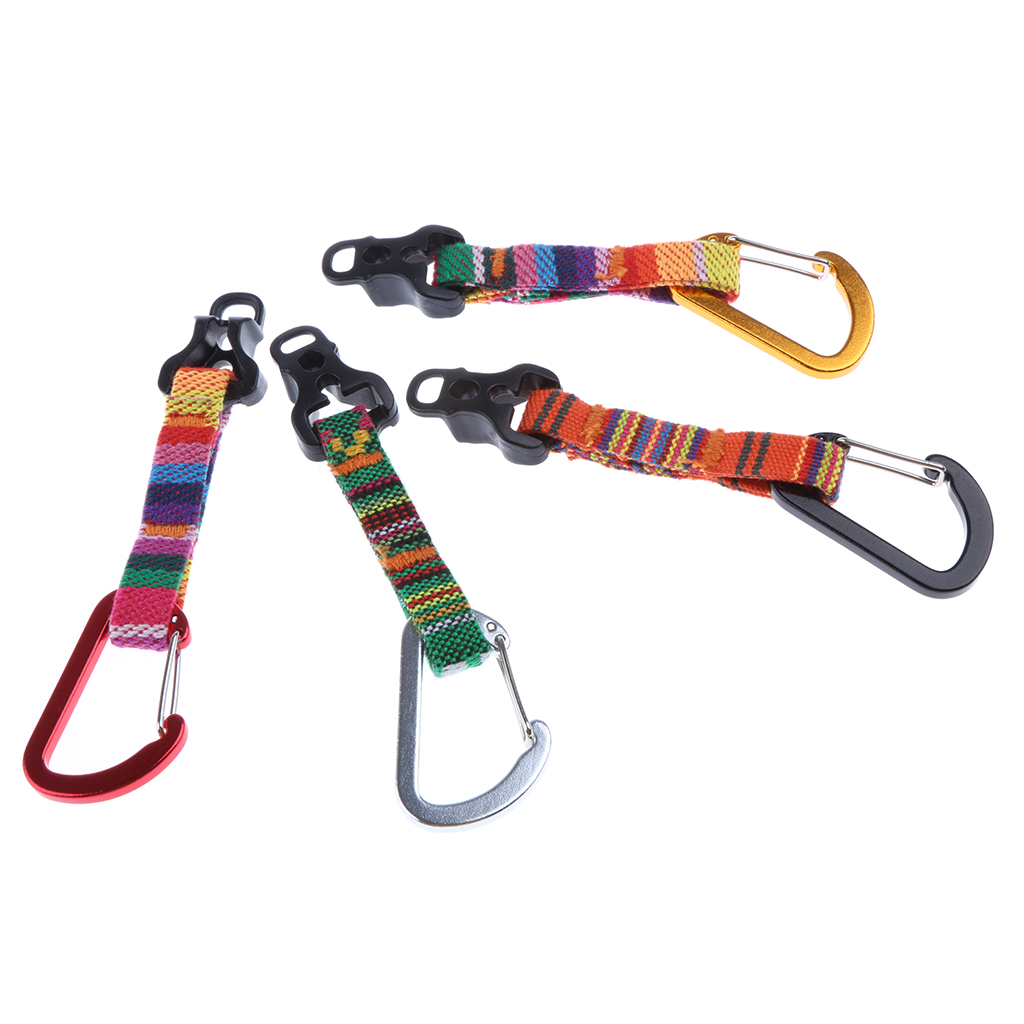 1 Piece D-Ring Carabiner Camping Awning Tent Cord Rope Buckle Guy Line Runner Tightener Replacement Accessories
