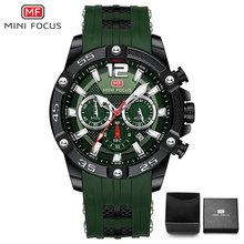 MINIFOCUS militaire hommes montres à Quartz Top marque de luxe bracelet en Silicone multifonction sport décontracté hommes horloge étanche(China)