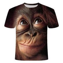 2019 mannen T-Shirts 3D Gedrukt Animal Aap tshirt Korte Mouwen Grappig Ontwerp Casual Tops Tees Man Halloween t-shirt shirt 6xl(China)