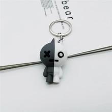 BTS Bangtan Meninos coreano Dos Desenhos Animados Chaveiro Personalizado Chaveiro Bonito 3D Boneca PVC Chaveiros Para As Mulheres Homens Saco do Anel Chave pingente(China)