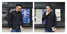 SauceZhan chemise Vintage originale avec 6 couleurs mélange Oxford, chemise en coton à manches longues, chemise de couleur unie, Yu Wenle chemise hommes(China)