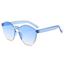 2020 без оправы Фрам конфеты Солнцезащитные очки «кошачий глаз» Для женщин Роскошные солнцезащитные Красочные Круглые Солнцезащитные очки Д...(Китай)