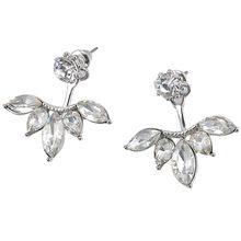 Pendientes con tachuelas 1 par de Pendientes de moda para mujer Pendientes de flores de cristal con diamantes de imitación accesorios de joyería Pendientes(China)