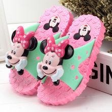 בני בנות כפכפים קיץ flip flop סנדלי ילדים 3D cartoon מיקי minne בית ספר בנות חוף כפכפים ילדי נעלי סנדל(China)
