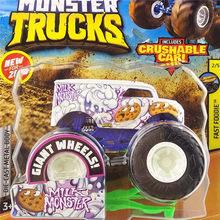 1:64 Original Hot Wheels Giant Räder Verrückte Barbarei Monster Metall Modell Auto Spielzeug Hotwheels Große Fuß Auto Kinder Geburtstag Geschenk(China)