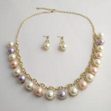 Moana Collares Kolye étrange F accessoires vitesse vente Tong Style chaud bijoux de mariée 2 pièces diamant perle collier boucles d'oreilles(China)
