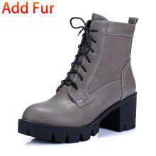 2020 dropship büyük boy 43 moda kadın ayakkabı kare topuklu çizmeler Martin kadın ayakkabı eğlence yarım çizmeler kadın(China)