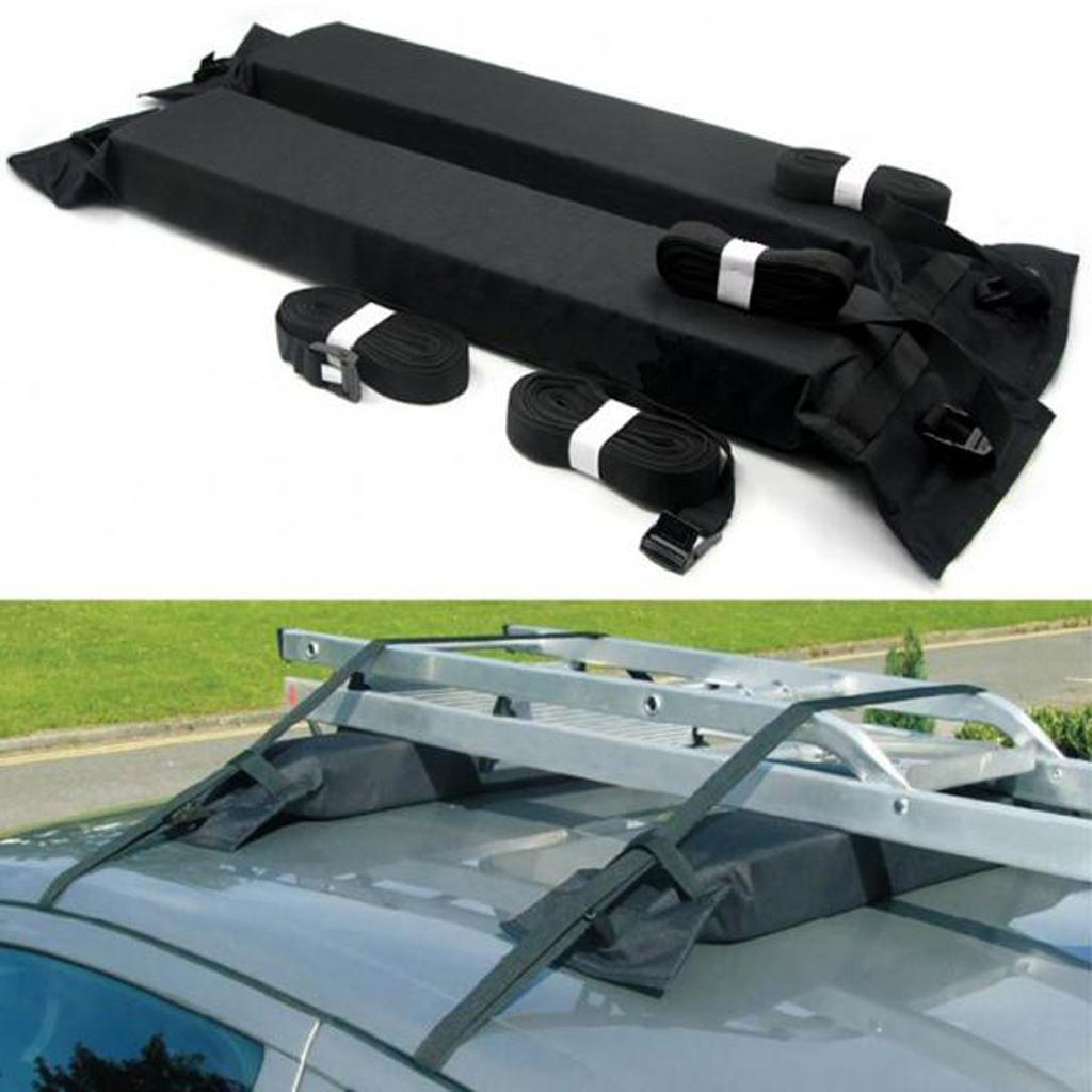 Universal Car SUV Van Top Roof Rack Kayak Canoe Travel Luggage Cargo Carrier - Black
