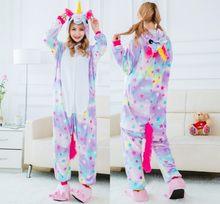 Totoro Kigurumi Pijama para Casal Flanela Inverno Sleepwear Panda Onesies Kigurumi Unicornio Adultos Animais Mulheres Homens Pijamas(China)