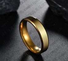 Mới Thép Titan Đen Ngón Tay Nhẫn Bộ Dành Cho Người Đàn Ông Mạ Bạc Nhẫn Nữ Vàng-Màu sắc Trang Sức Nữ Cưới nhẫn(China)