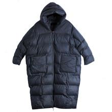 LANMREM Thickmess con capucha de algodón acolchado abrigo Batwing manga larga suelta ajuste mujeres moda Parkas marea nuevo Otoño Invierno 2019(China)