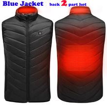 11 مكان حار USB الأشعة تحت الحمراء التدفئة سترة سترة الملابس الحرارية الكهربائية صدرية للنساء الرجال في الهواء الطلق المشي لمسافات طويلة التخي...(China)