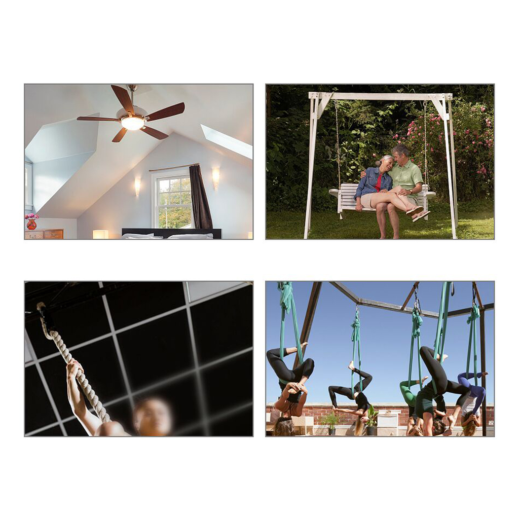 Hanging Chair Hammock Ceiling Mount Hook for Camping Backyard Patio Beach