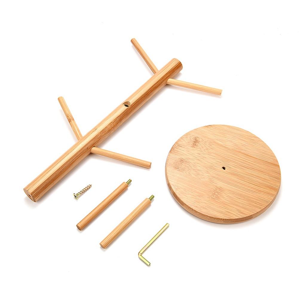 soporte para vasos cuadrados Soporte para tazas de drenaje de madera maciza de bamb/ú para taza de caf/é o t/é para la cocina HangzhoushiJacob Elsie