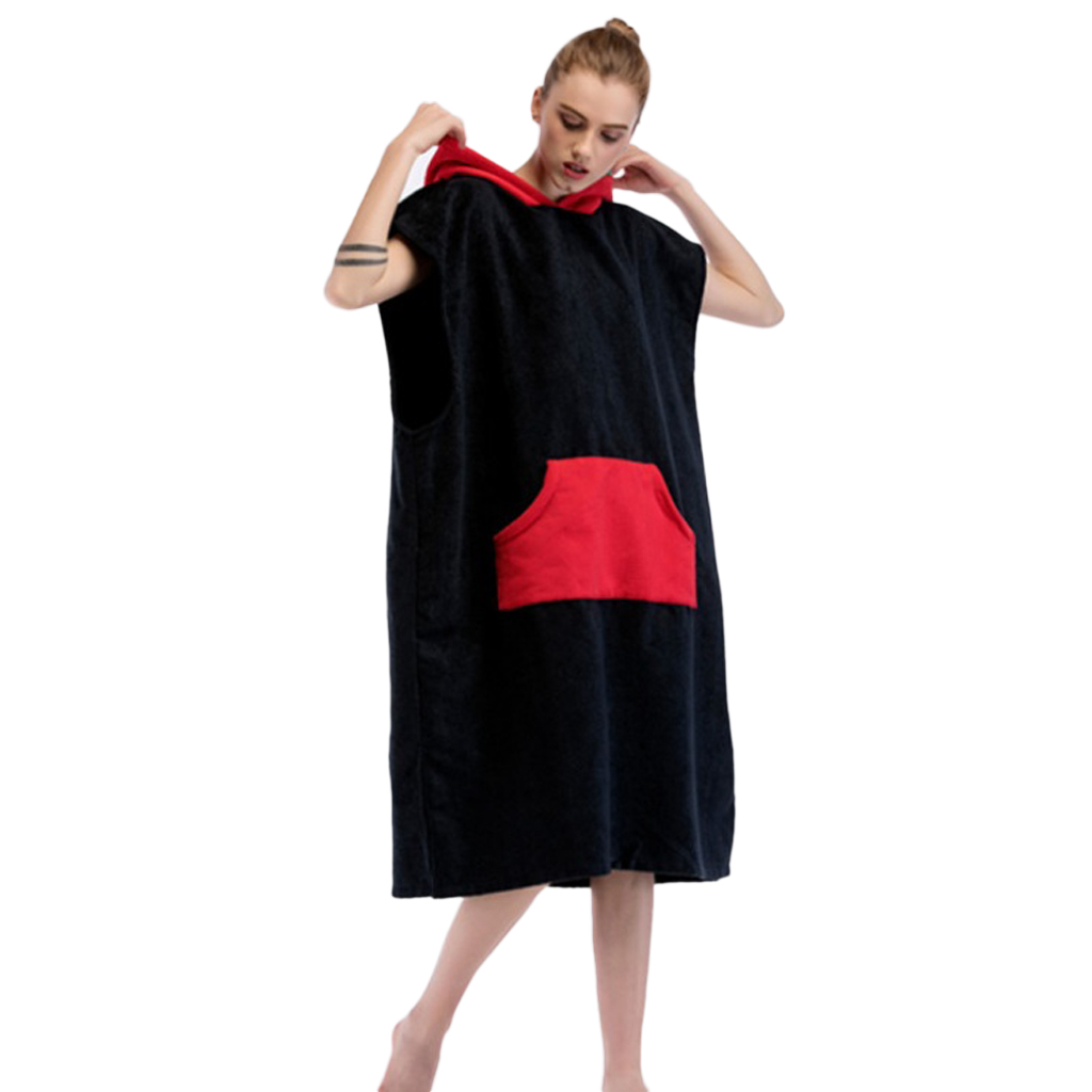 Surf Poncho - Beach Swim SUP Wetsuit Changing Robe/Towel for Swimming Surfing Beach Pool Travel - Choose Color