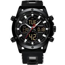 Montres hommes Top marque de luxe chronographe or hommes montre Quatz numérique montre LED de sport hommes homme horloge homme étanche montre-bracelet(China)