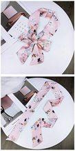 DHL 500pcs ผู้หญิงลำลองวินเทจผ้าไหมซาตินสแควร์ผ้าพันคอคอ Retro โบว์ผูกผม Band Bandanas(China)