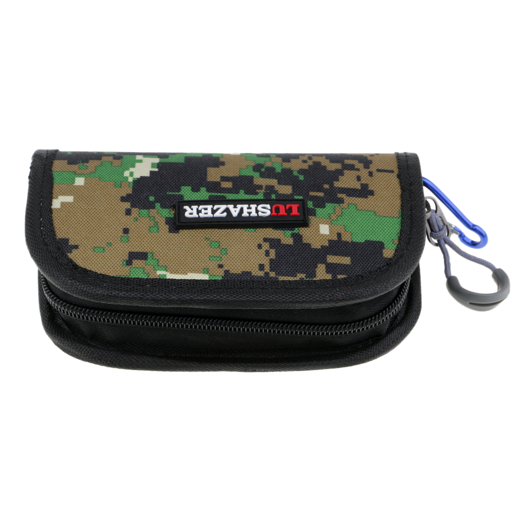 Fishing Spoon Lures Bag Tackle Case Spinner Box Waterproof attach to Vest Backpack Carp Fishing Fly Fishing Tools 15x10x4cm