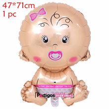 1 компл. Детский душ день рождения большой сосок детская бутылочка шар в форме ножки гелиевые глобусы 12 дюймов это мальчик/девочка латексный...(China)