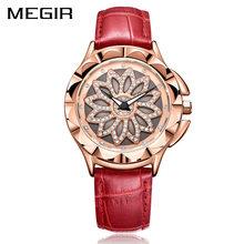 Mulheres da moda Relógios 2019 Melhor Vender Rodada Mostrador do Relógio de Luxo em Ouro Rosa Relógios 2019 Novo Relógio de Pulso de Quartzo das Mulheres feminino(China)