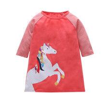 Детское платье для девочек от 1 до 7 лет платья с длинными рукавами для малышей летняя детская одежда Хлопковое платье принцессы для девочек ...(China)