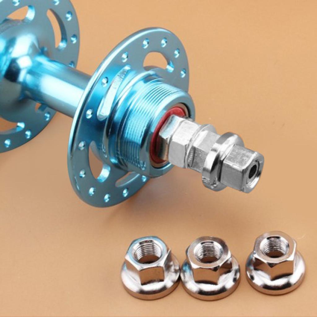 1 Pair Flange Nut M10 for Rear Hub Fixed Gear MTB Road Bike Axle Screws