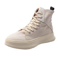 Kadın spor ayakkabılar Rahat Kanvas Martin Çizmeler Kadın yarım çizmeler Bayan Rahat Artan 3cm Kalın Taban PlatformShoes(China)