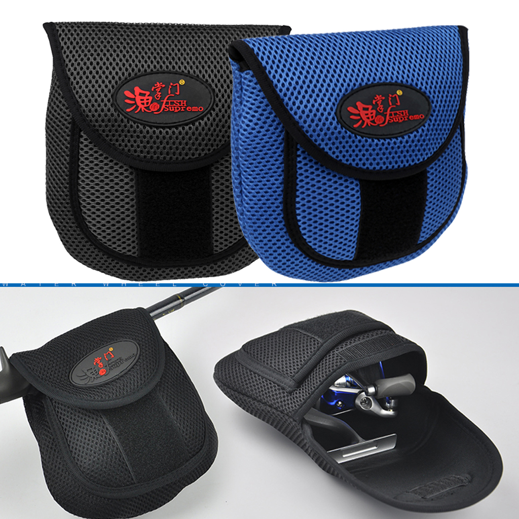 Black /Blue Fishing Reel Cover Storege Case Pouch Bag Outdoor Fishing Spinning Casting Tackle Bag Fishing Reel Bag