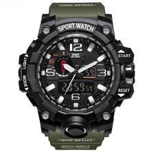 2020 marca relógio masculino de alta qualidade pedômetro esporte relógio de pulso à prova dwaterproof água luminosa digital pulseira masculino charme de choque auto-movimento(China)