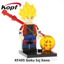 Venda única Goku Figuras de Ação Dragon Ball Z Android 18 Preto Rosa Klin Presente Coleção de Blocos de Construção Tijolos Brinquedos para Crianças KF583(China)
