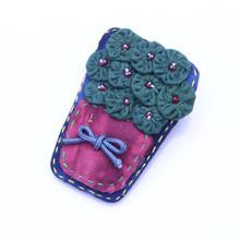 Kapas Bunga Bros Perhiasan Lucu Busur Pin dan Bros untuk Wanita Bunga Bros Pin Pakaian(China)