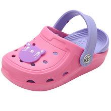 DRIPDROP ילדי ילד נעלי בית חוף סנדלי בנות קיץ כפכפי גן תינוק כפכפים ידידותי לסביבת פעוט נעליים עם 5 מדבקות(China)