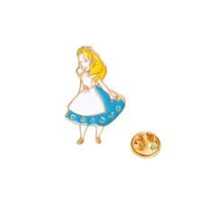 Queen Alice Wonderland Pin Bros untuk Wanita Lucu Topi Ajaib Botol Crown Enamel Pin Perhiasan Berwarna Merah Muda Gadis Kerah pin(China)