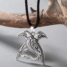 CHENGXUN แฟชั่นผู้ชายสร้อยคอ Celtic มังกรจี้สร้อยคอเด็ก Wing สร้อยคอ Norse Pagan Viking Runes (China)