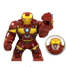 Legoing Iron man Thanos Gauntlet Power Stones Gloves Marvel Avengers Endgame Building Blocks Toys Marvels Avengers Superheroes(China)